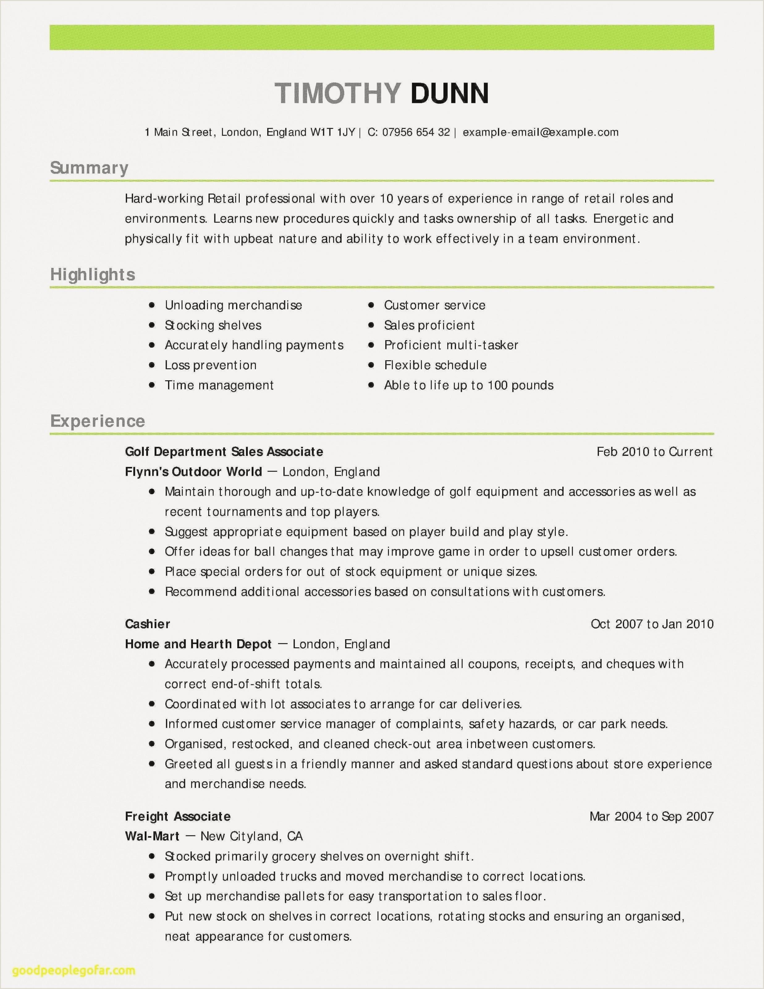 Professional Resume format Doc Elegant Resume Ucla