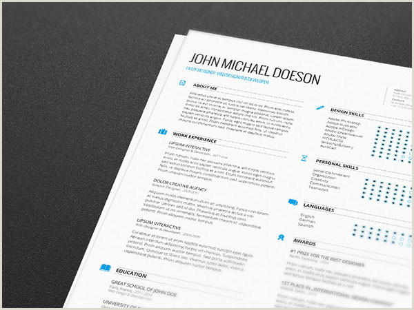 Professional Resume format Docx Best Free Clean Resume Templates In Psd Ai and Word Docx format