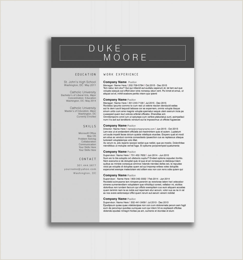 Professional Resume format for Freshers Doc Template Free Creative Resume Templates Allcupation Almost