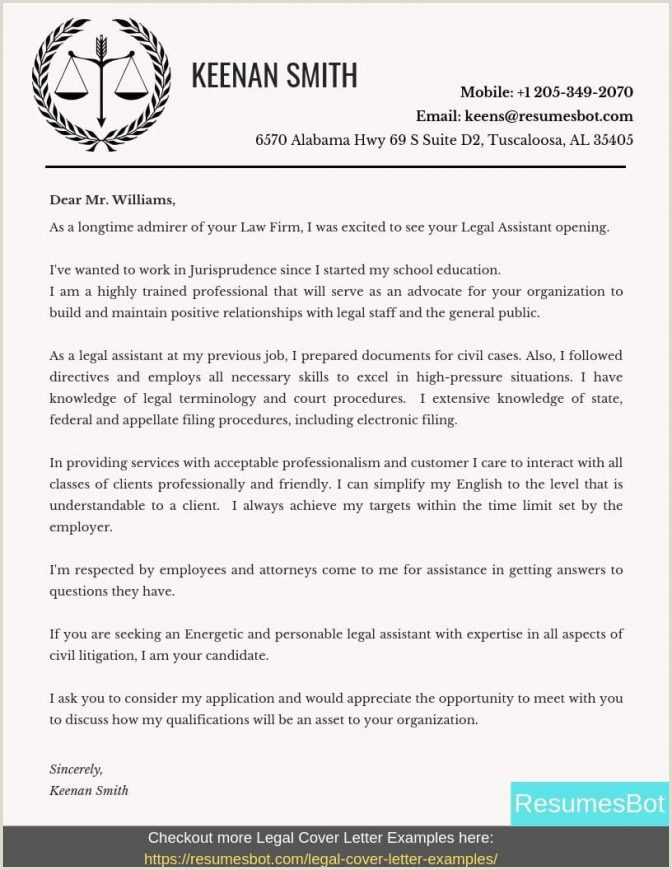 Legal Covering Letters Samples Paralegal Cover Letter