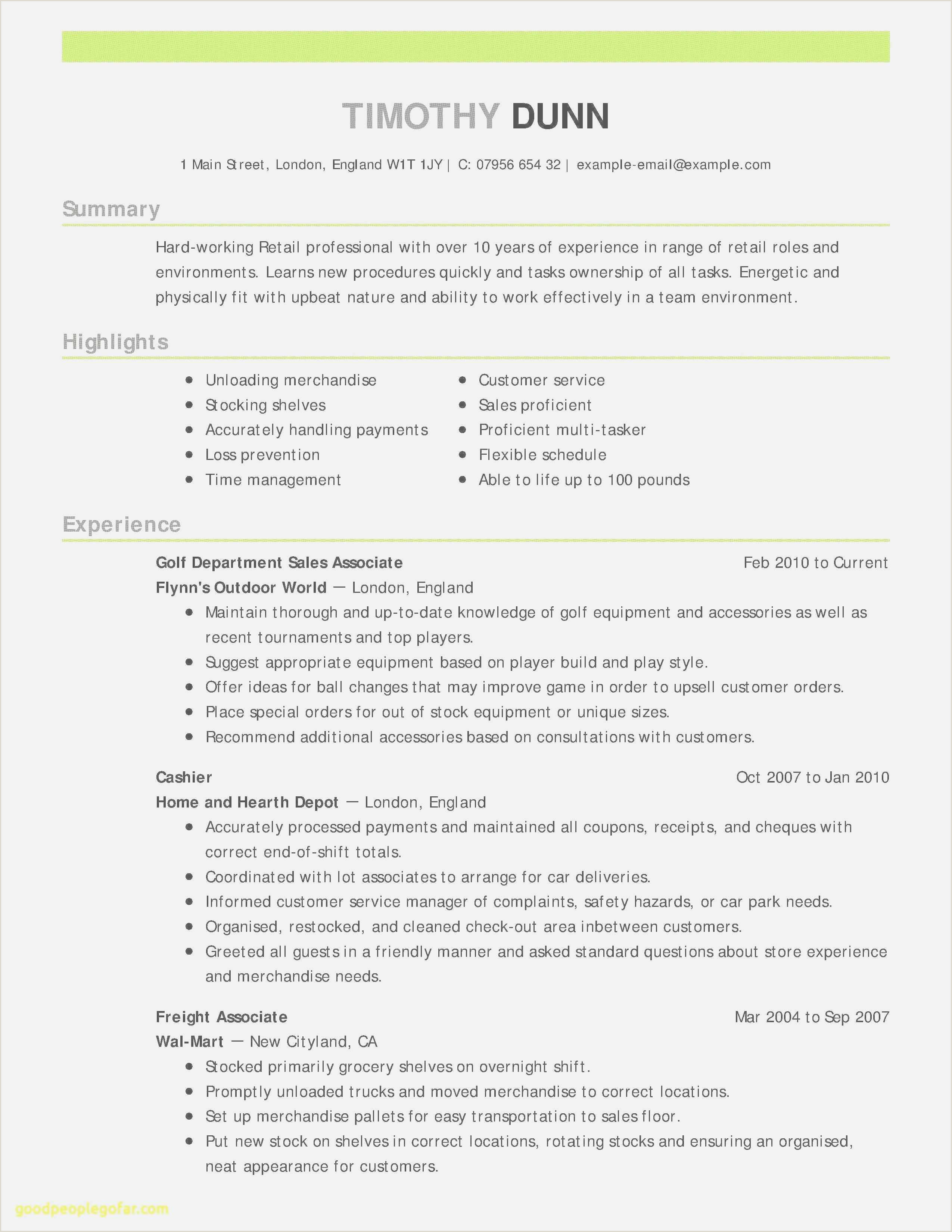 Professional Summary for Cashier Download Resume Sample Hr Manager New Free Job Posting