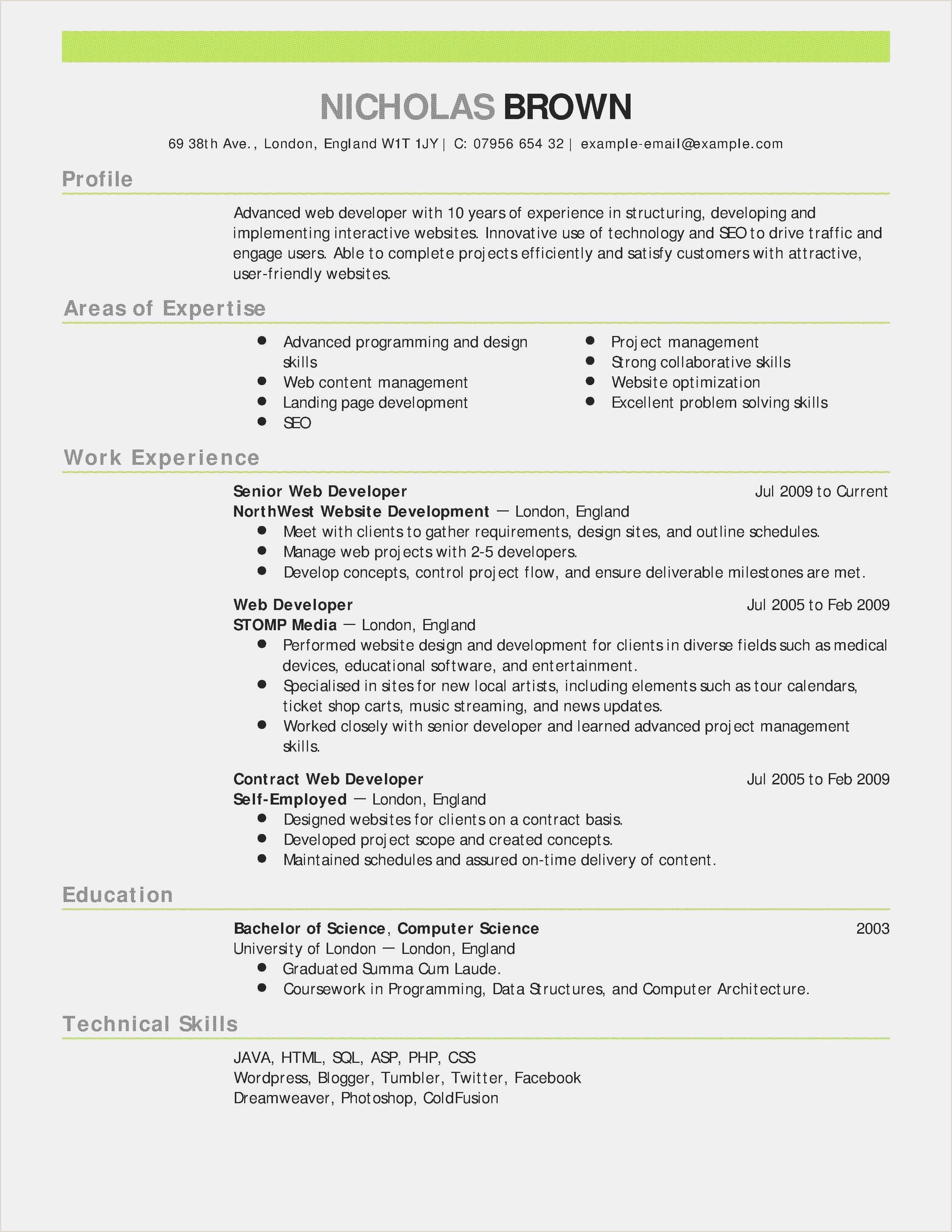 Download Sample Resume Doc New Unique Resume Sample Doc Best