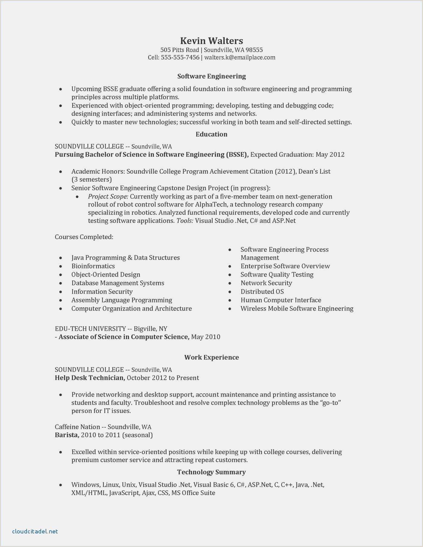 Free Junior Web Developer Resume Unique Resume asp Net