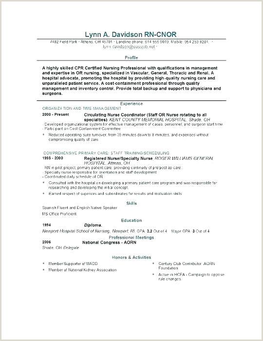 Resume Template Nurse Resume Template For Nursing Graduate