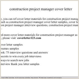 Construction Project Manager Cover Letter Construction
