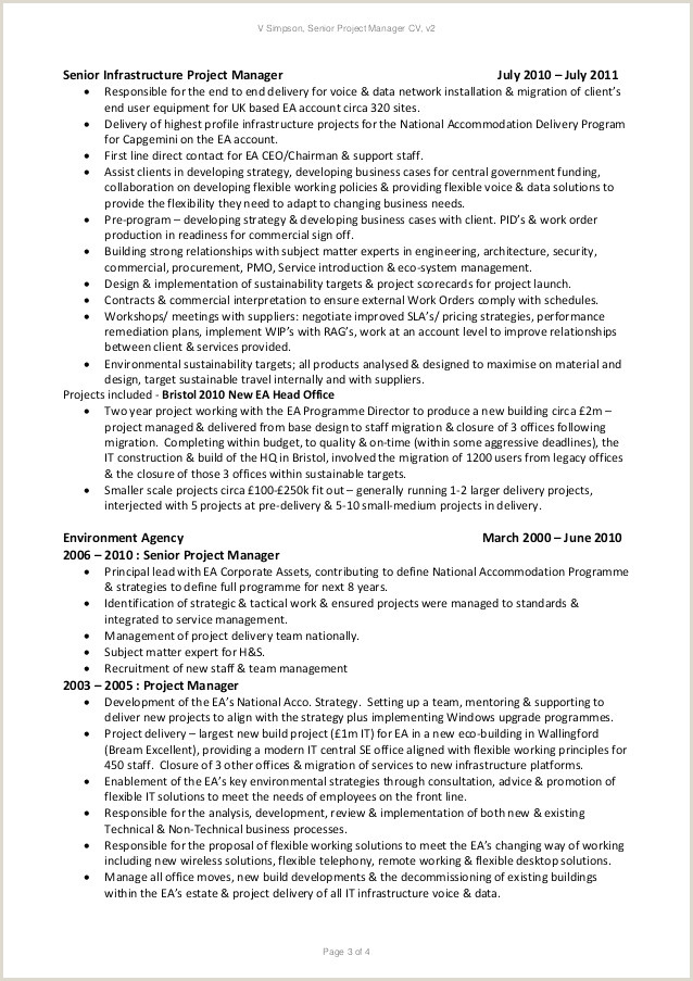 Project Manager Cv Cv Manager Simple 46 Management Accountant Cv Example