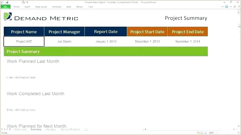 Project Status Report Email Template Ppt Excel 6 Format Cash