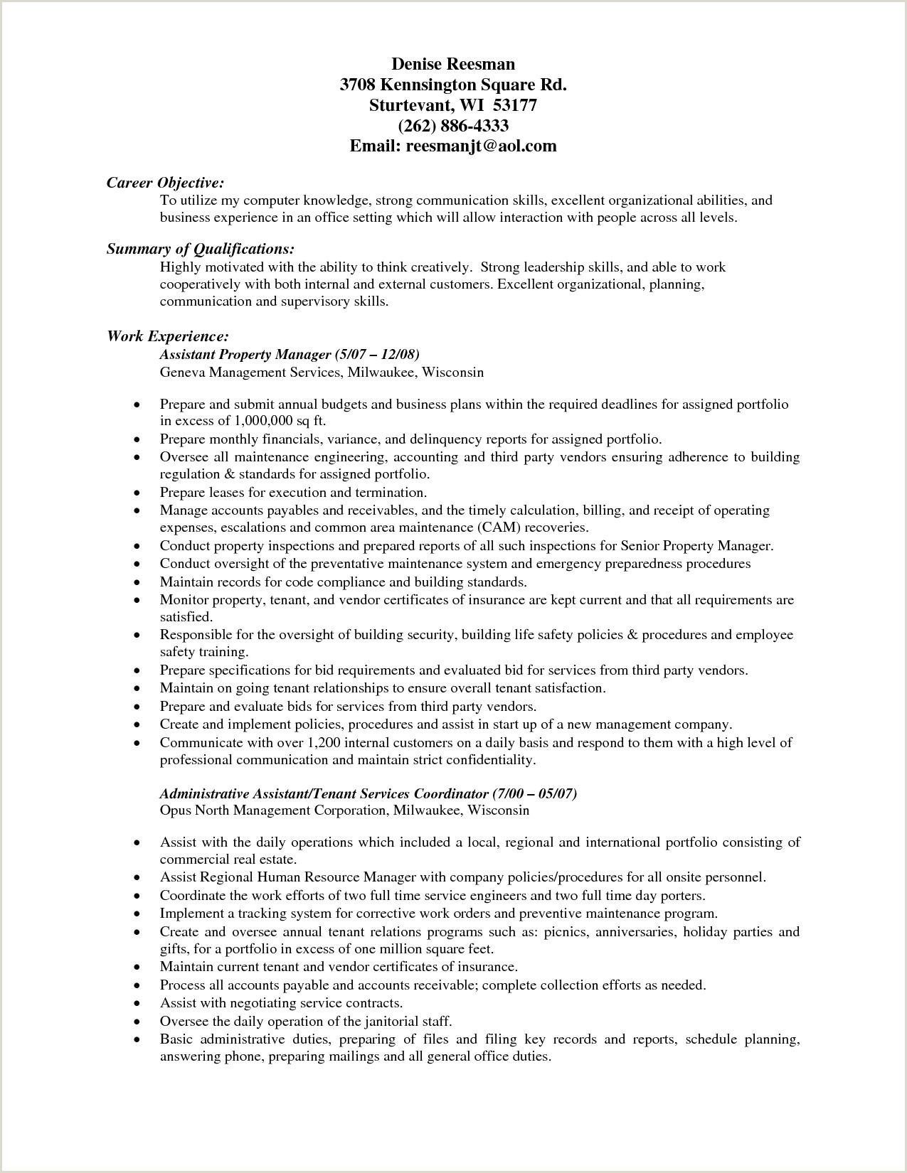 Property Manager Resume Templates Beautiful 73 Cool Resume