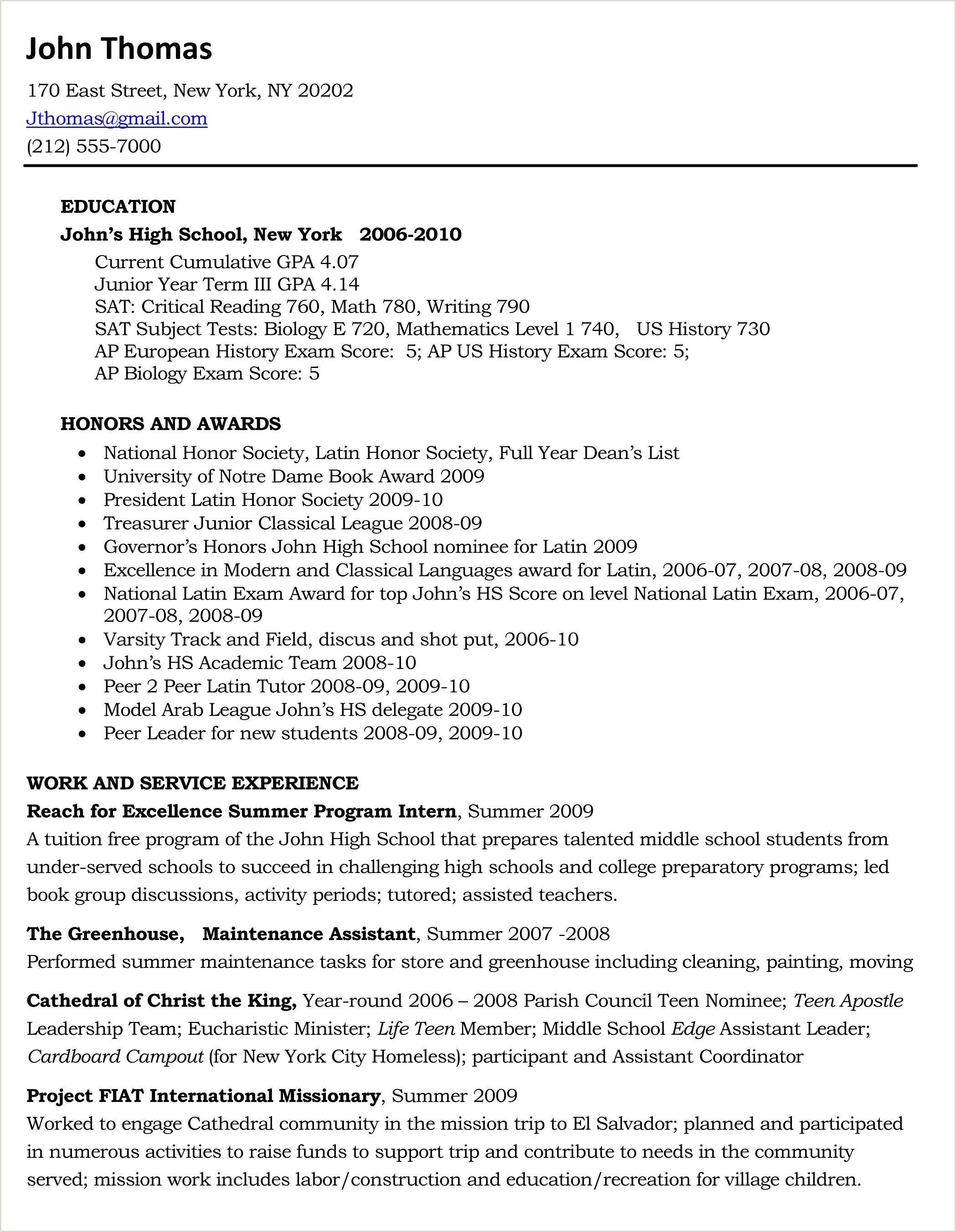 Sample Resume Xls Format 3 Resume Format