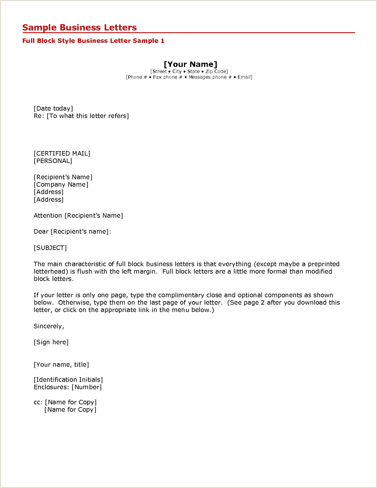 Apa Business Letter format Sample Beautiful 16 Letter format