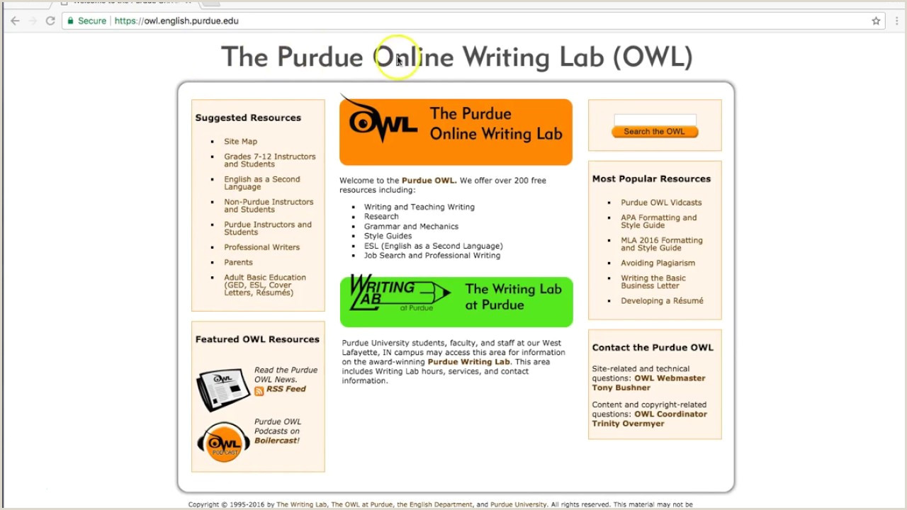 Purdue Owl Business Letter How to Cite A Manuscript Mla Purdue Owl Owl Mla Citation