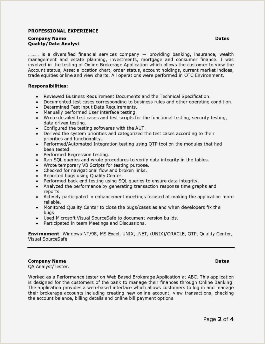 Lovely Quality Engineer Resume