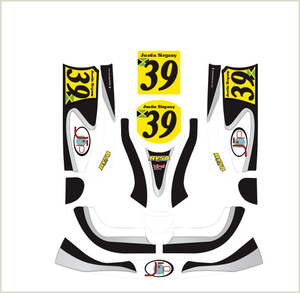 Kart decals at Fat Monkey Decals race car & kart wrap