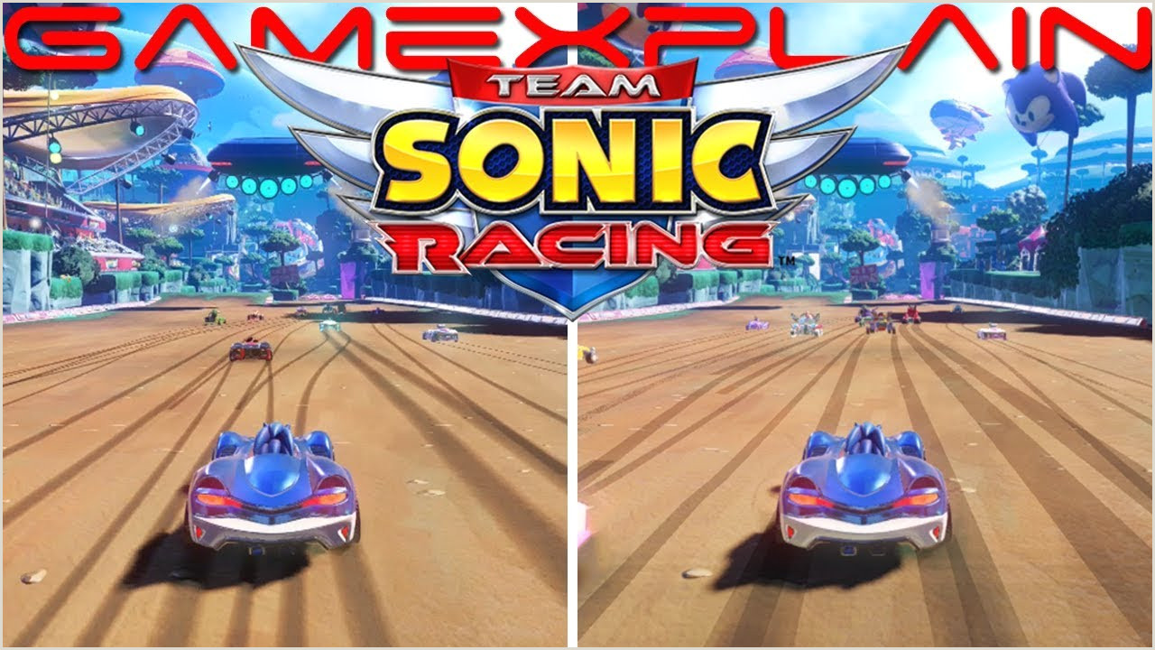 Team Sonic Racing Switch vs PS4 Graphics & Load Times parison