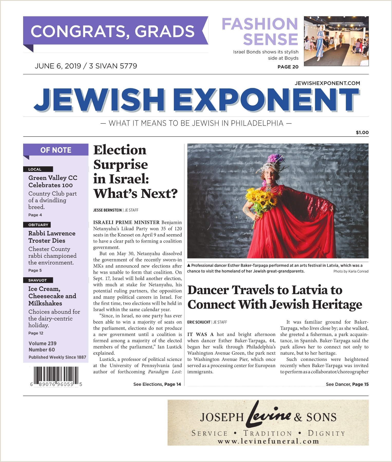 Jewish Exponent June 6 2019 Pages 1 50 Text Version