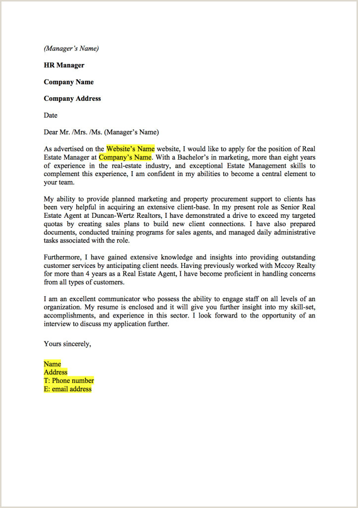 Real Estate assistant Cover Letter New Real Estate assistant
