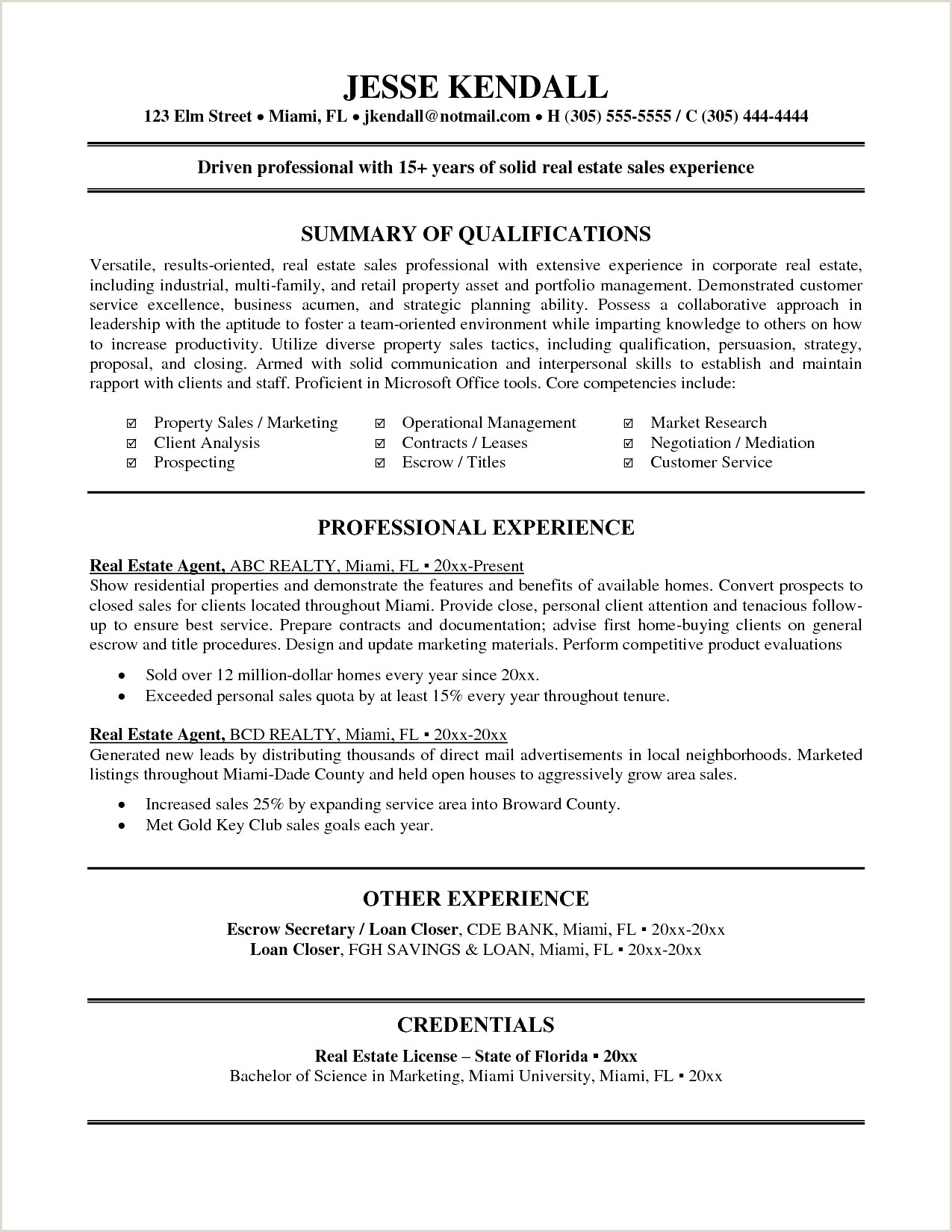 Sample Real Estate Agent Resume Best New Real Estate