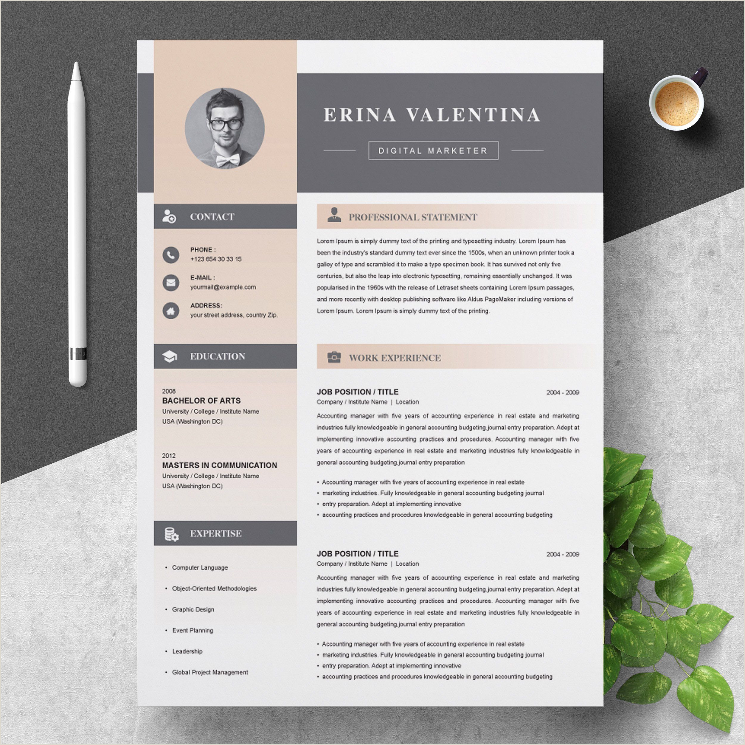 Real Estate Cv Resume Cv Template Clean Modern and Professional Resume