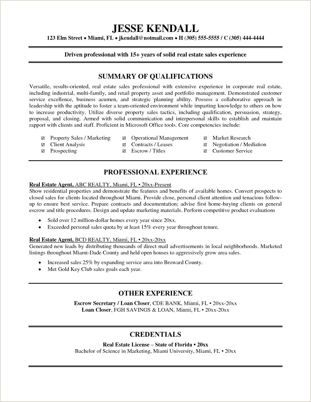 Sample Real Estate Agent Resume Lovely Realtor Resume Real