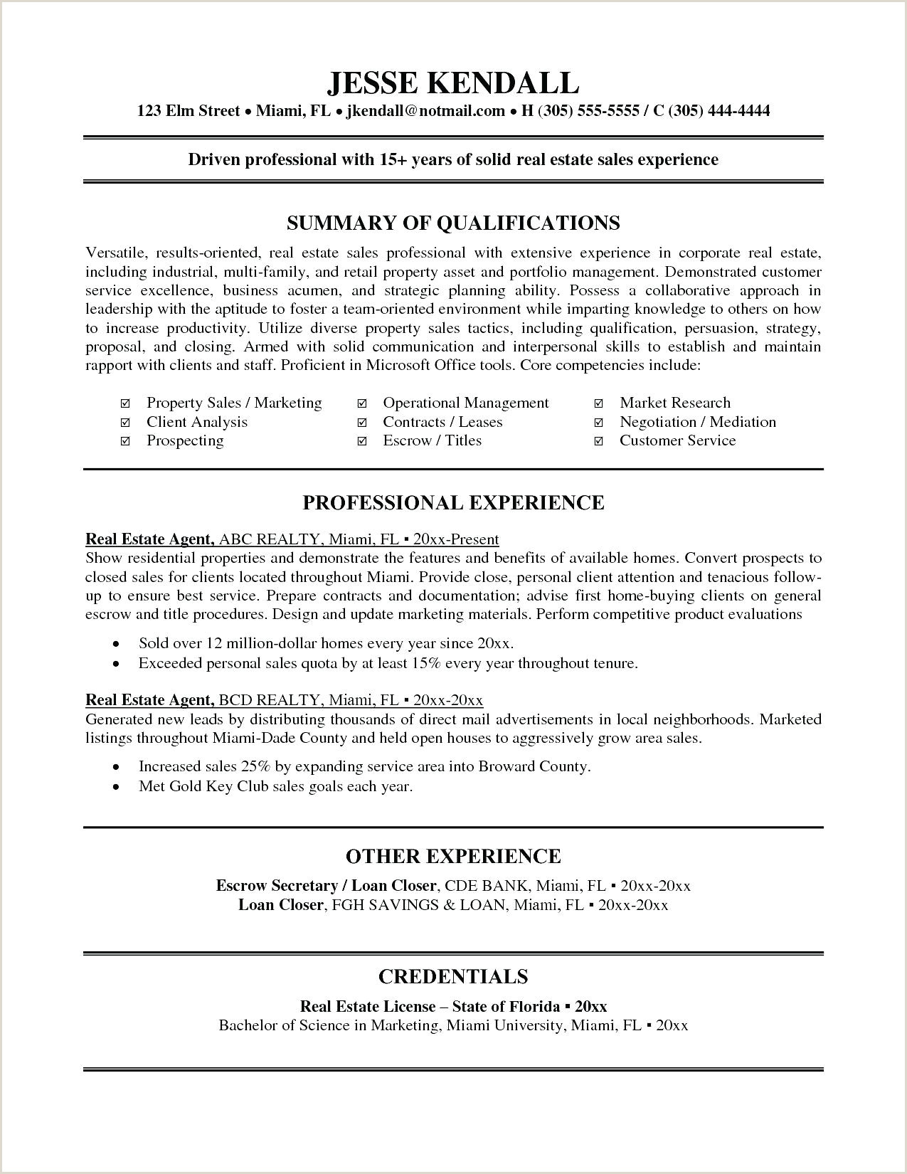 Real Estate Developer Resume Sample Email to Approach New Client – Wovensheet