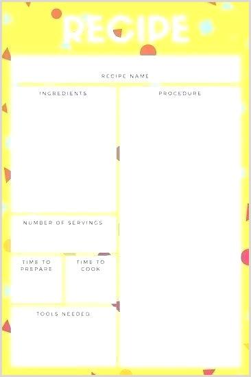 recipe document template