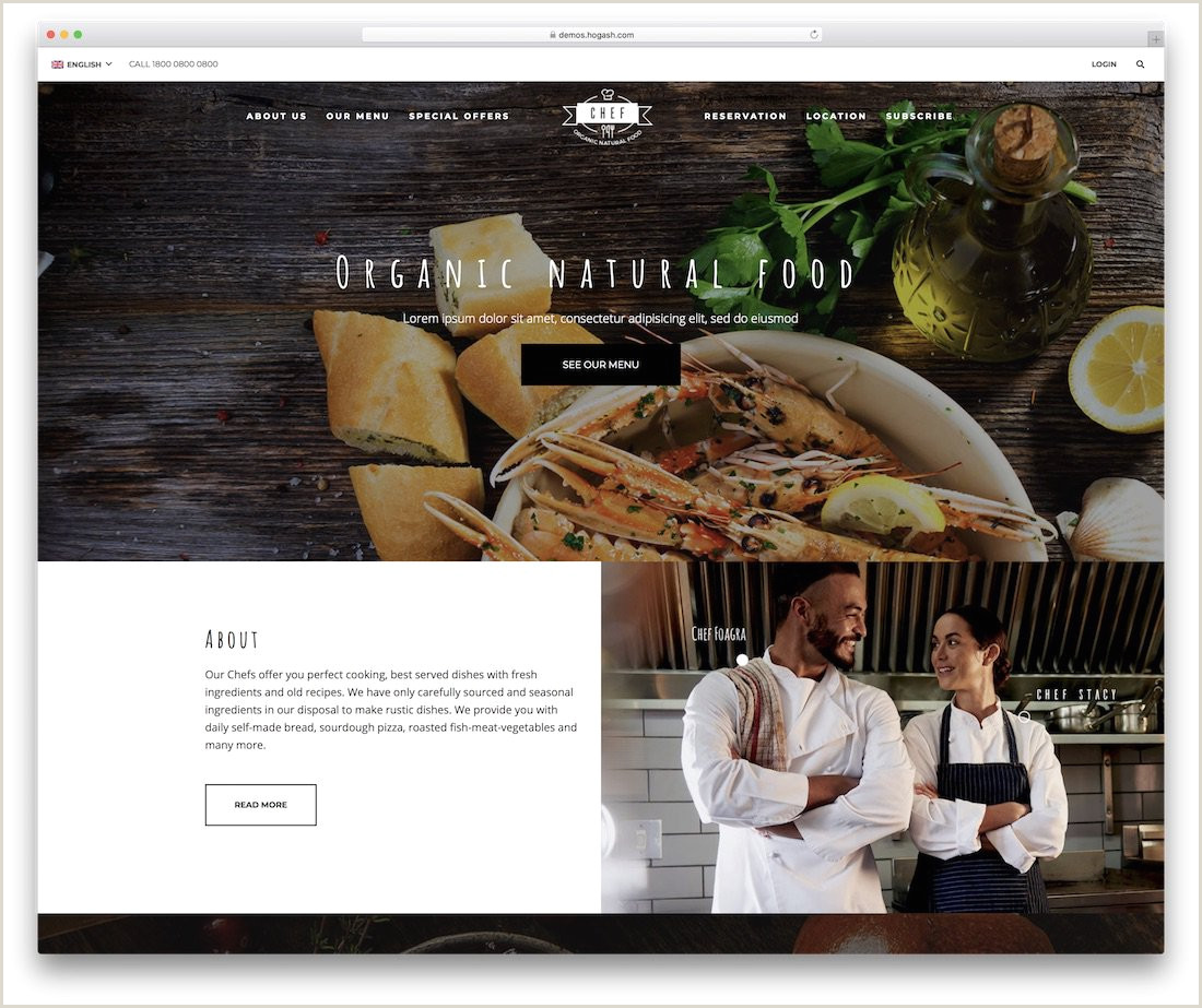 33 Best Food Website Templates That Satisfy All Food Lovers