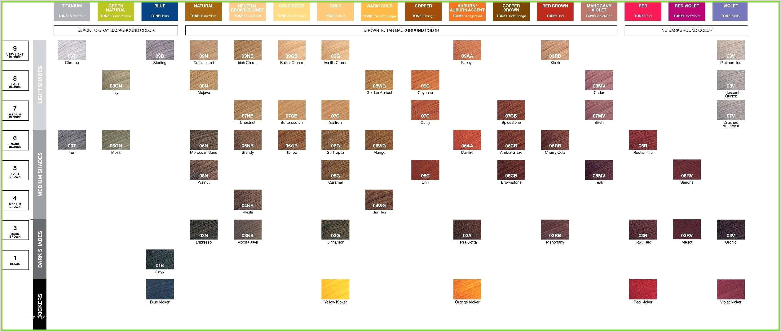 Redken Demi Color Chart ✓ Free Collections 33 Redken Demi Permanent Hair Color Chart