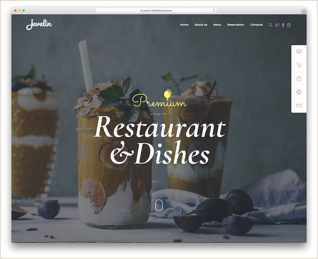 Refer A Friend Card Template 33 Best Food Website Templates that Satisfy All Food Lovers