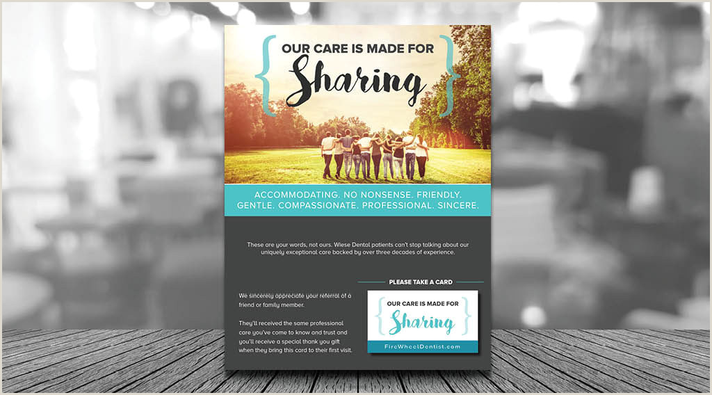 Refer A Friend Card Template Dental Referral Pads Golden Proportions Marketing