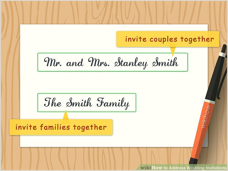 How to Address Wedding Invitations with wikiHow