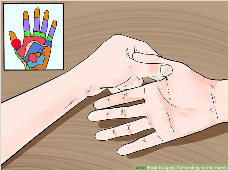Reflexology Hand Map Chart How to Apply Reflexology to the Hands with Wikihow