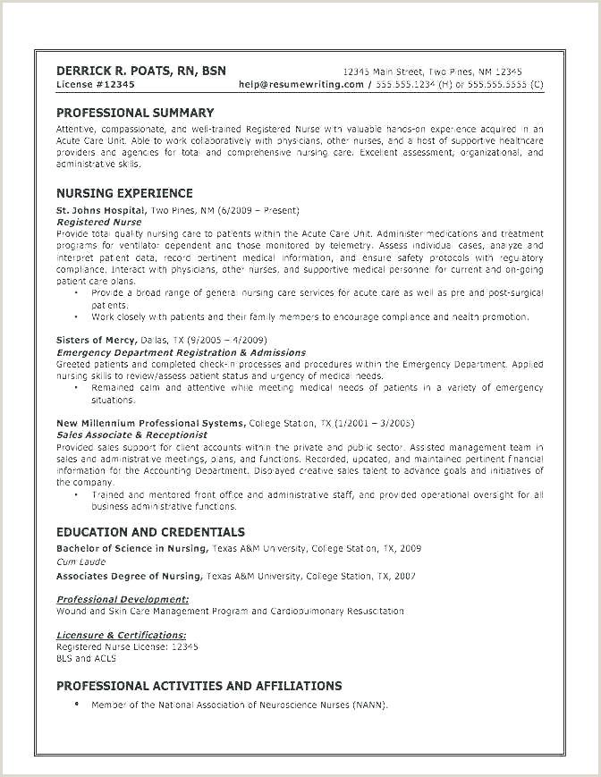 Registered Nurse Resume Summary Travel Nurse Resume – Joefitnessstore