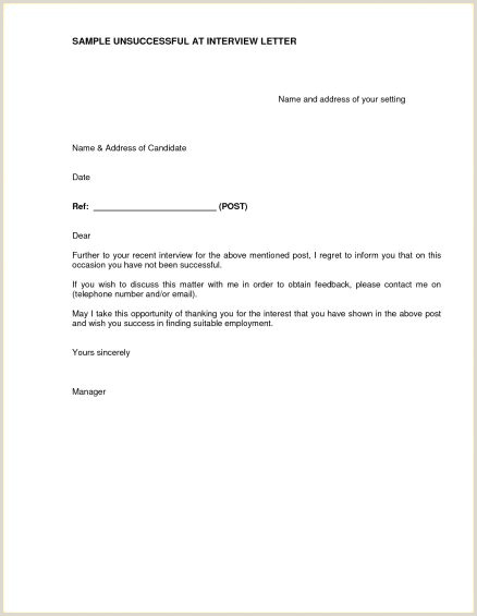 Rejection Letter for Internal Candidate Sample Candidate Rejection Letter Job Example Applicant