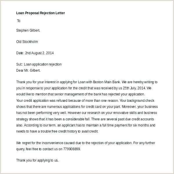 Vendor Rejection Letter Application Sample