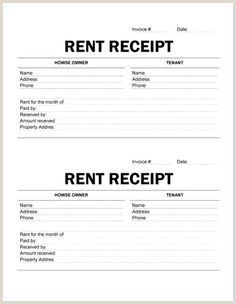 9 Best Rent Receipt Template images
