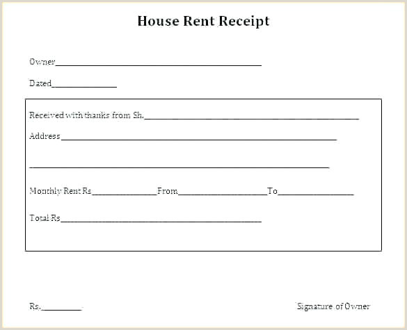 Rent Receipt Samples Office Receipt Template
