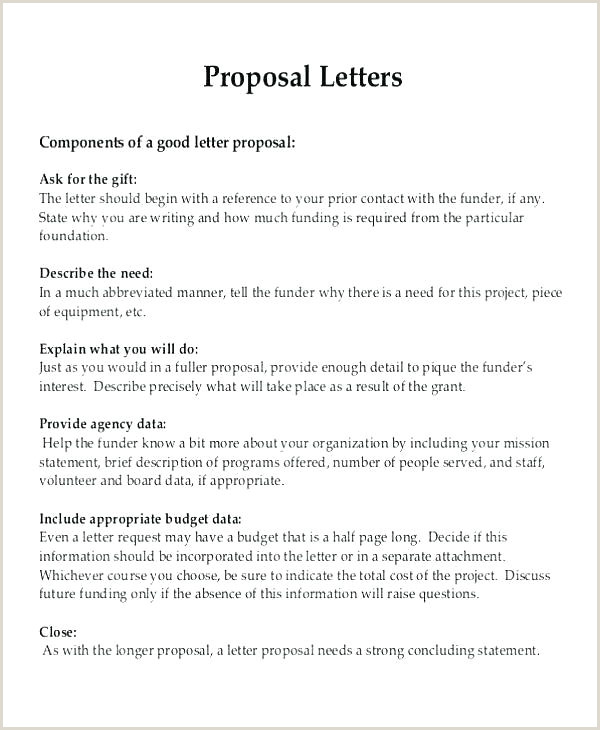 A Template Funding Request Letter Grant For Proposal