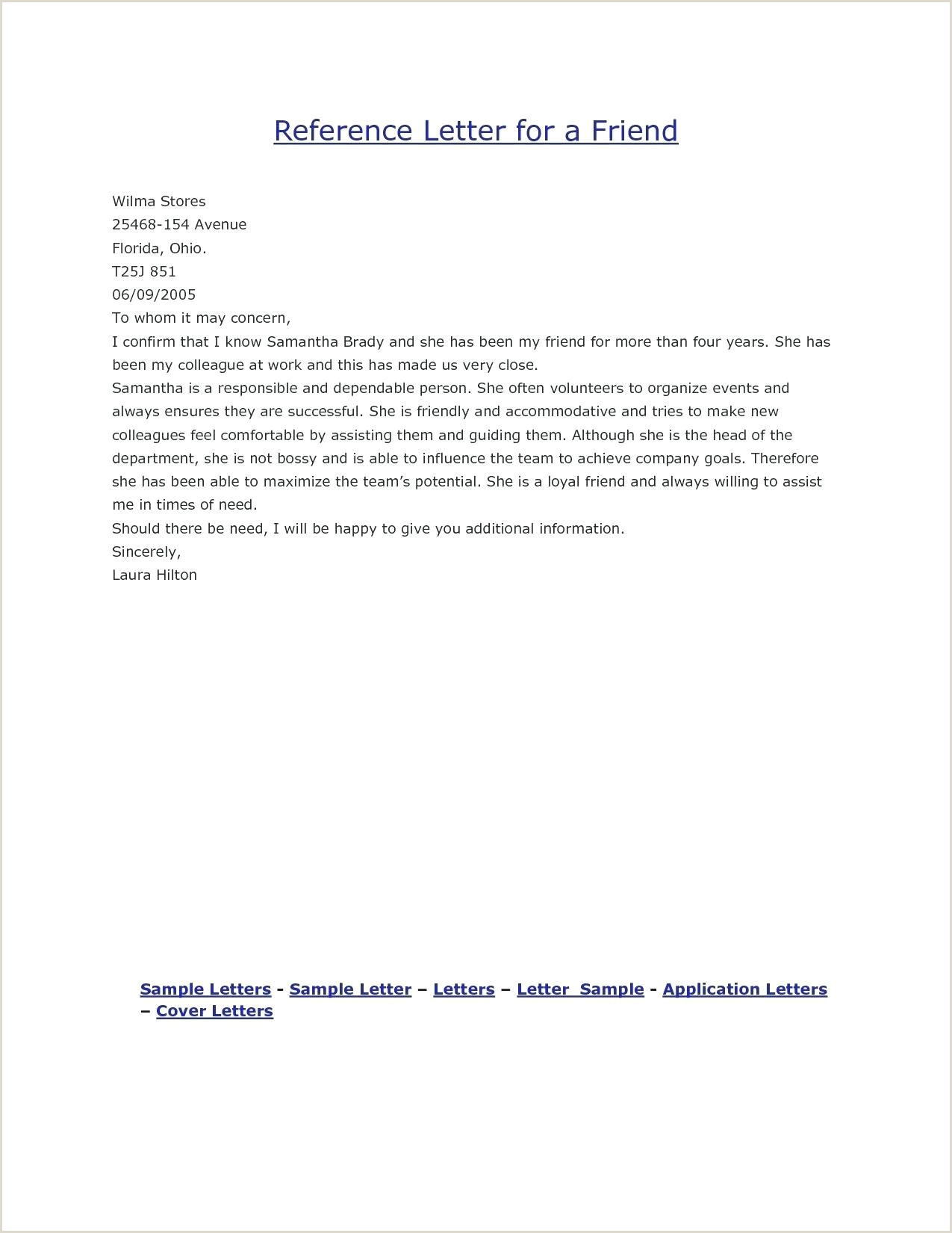 Request Letter for Good Moral Personal Reference Letter Example – Bestofpage