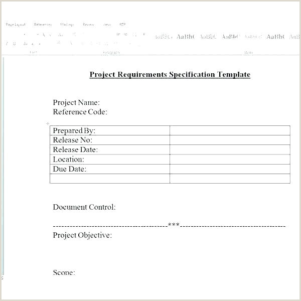 System Requirements Template Excel Free Business Software