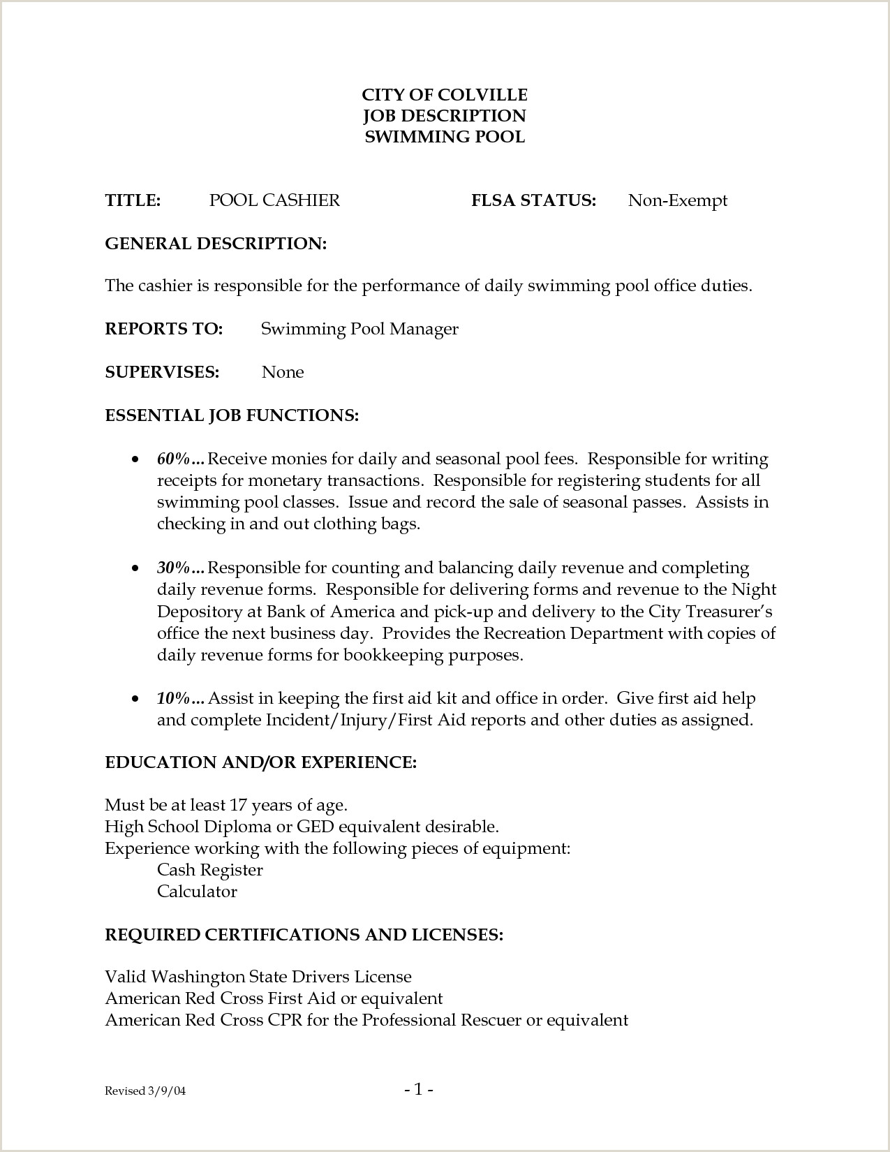 Part 268 Resume Format Examples