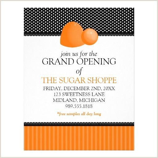 Candy Shop Grand Opening Announcement Flyers