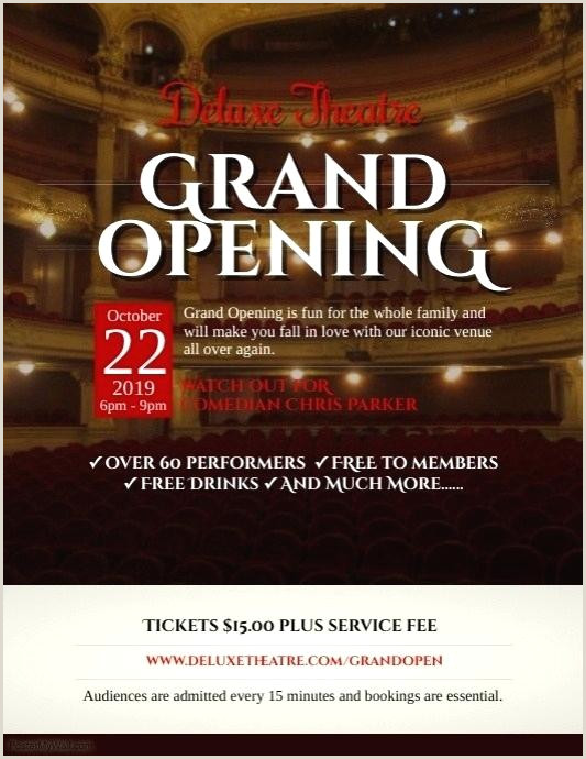 Free Grand Opening Flyer Templates By Template Restaurant