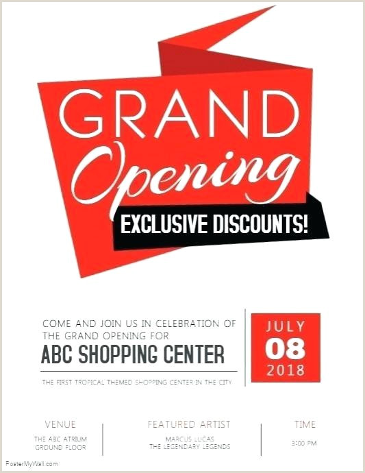 Grand Opening Flyer Template Club Flyers Restaurant