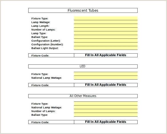 Restaurant Inventory Template Lighting Equipment Inventory Template for Free List