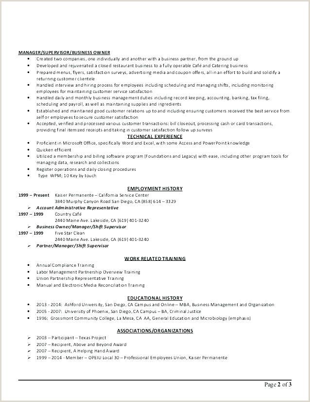 4 5 Restaurant Asst Manager Job Description Cafe Template