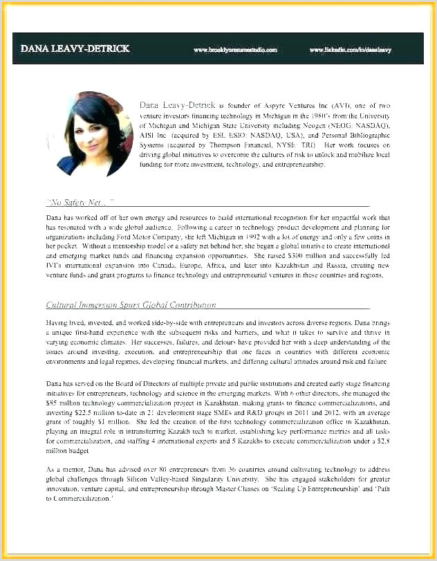business owner bio template