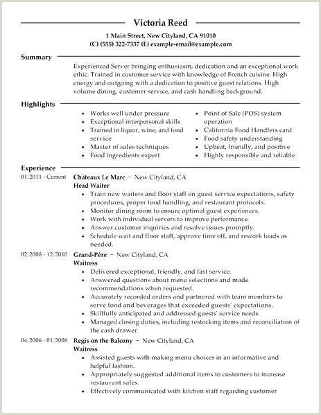 Restaurant Resume Server Restaurant Resume Example – Emelcotest