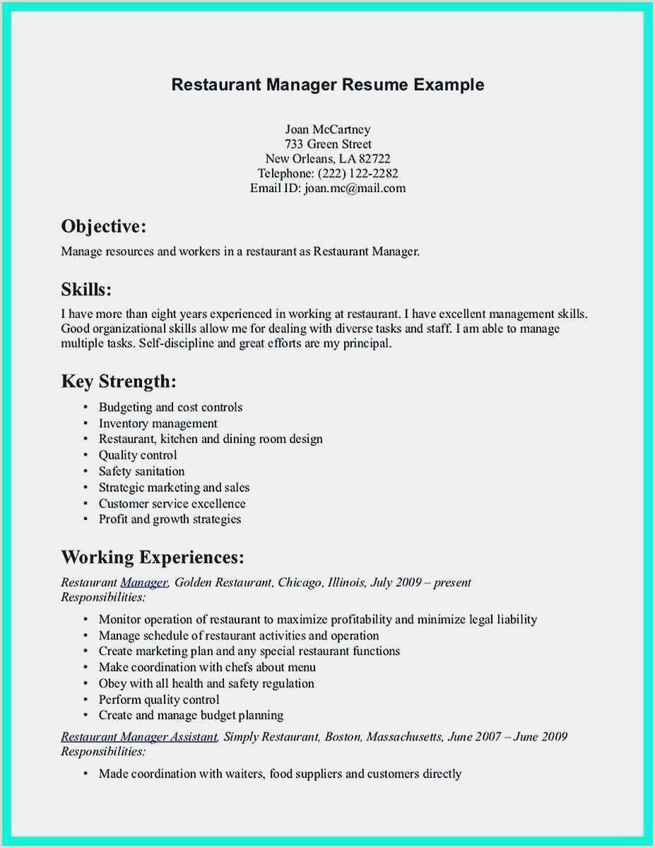 Restaurant Resume Templates Free 54 Restaurant Resume Templates Free Download