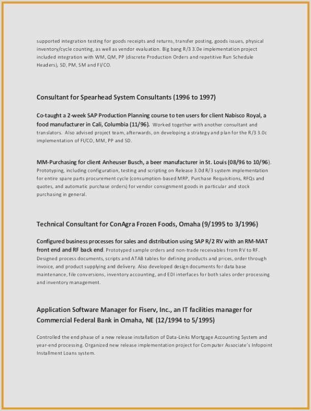 Restaurant Resume Templates Free Sample Resume for It Jobs