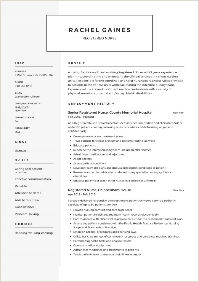 Resume assistant Manager Resume Samples Nurses Free New Nurse Templates Rn 0d Templa